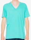 Unisex Fine Jersey V-Neck T-Shirt, American Apparel 2456W // AM2456 Mint   XS