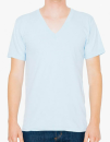 Unisex Fine Jersey V-Neck T-Shirt, American Apparel 2456W // AM2456 Light Blue   XS