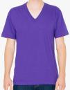 Unisex Fine Jersey V-Neck T-Shirt, American Apparel 2456W // AM2456 Purple   XS