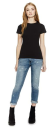 Ladies Slim Fit Jersey T-Shirt, Continental Clothing N12...