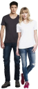 Unisex Scooped Neck  T-Shirt, Continental Clothing N21 //...
