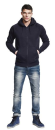 Mens Zip Through Hooded Sweat, Continental Clothing N51Z...