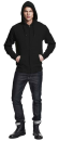 Mens High Neck Zip Up Hoody, Continental Clothing N52Z //...