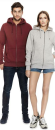 Mens/Unisex Classic Zip Up Hood, Continental Clothing...