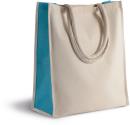 Baumwoll- / Jute-Shoppingtasche, 23 L, Kimood KI0253 //...