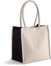 Baumwoll-/Jute-Shoppingtasche, Kimood KI0255 // KM0255