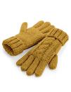 Cable Knit Melange Gloves, Beechfield B497 // CB497