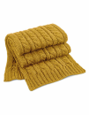 Cable Knit Melange Scarf, Beechfield B499 // CB499